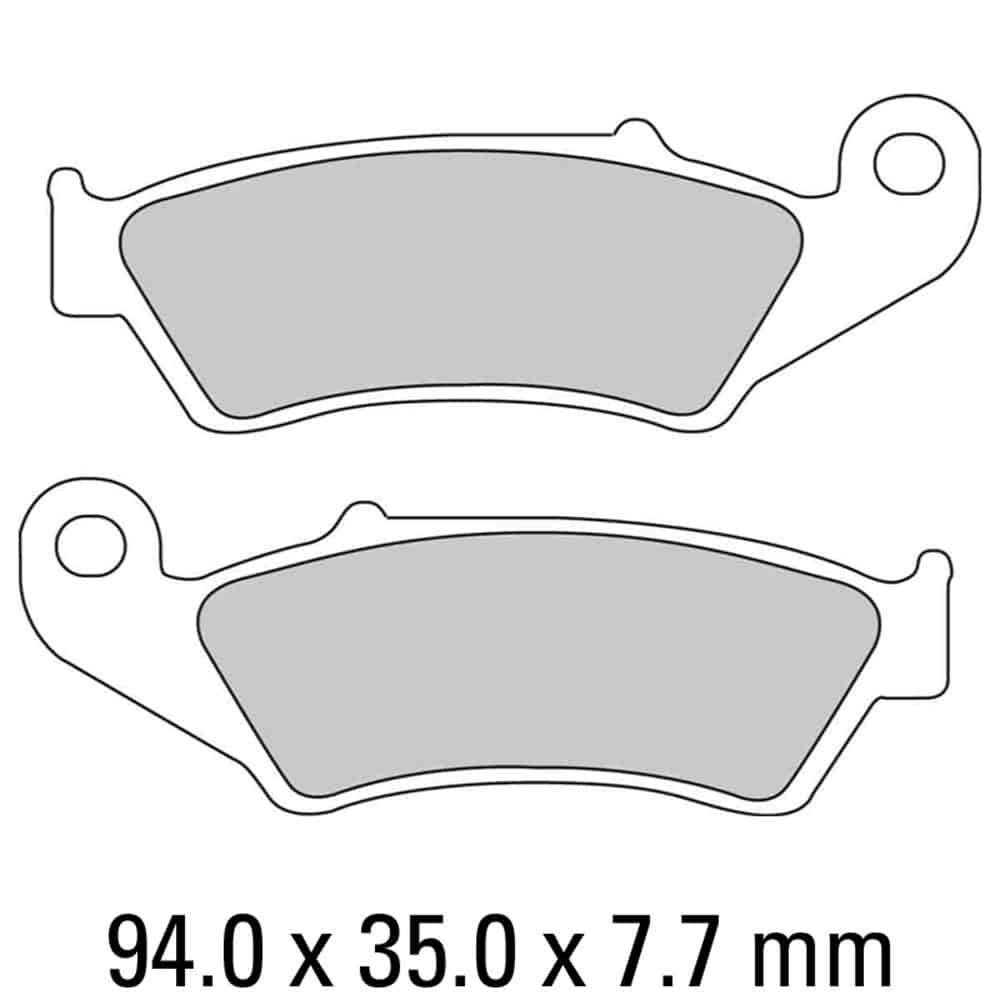 Ferodo Brake Disc Pad Set – FDB892 EF ECO Friction Compound – Non Sintered