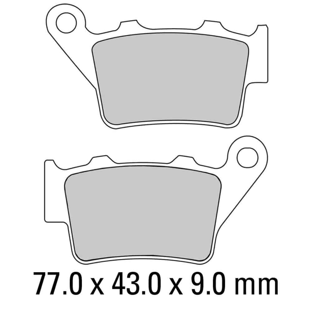 Ferodo Brake Disc Pad Set – FDB2005 EF ECO Friction Compound