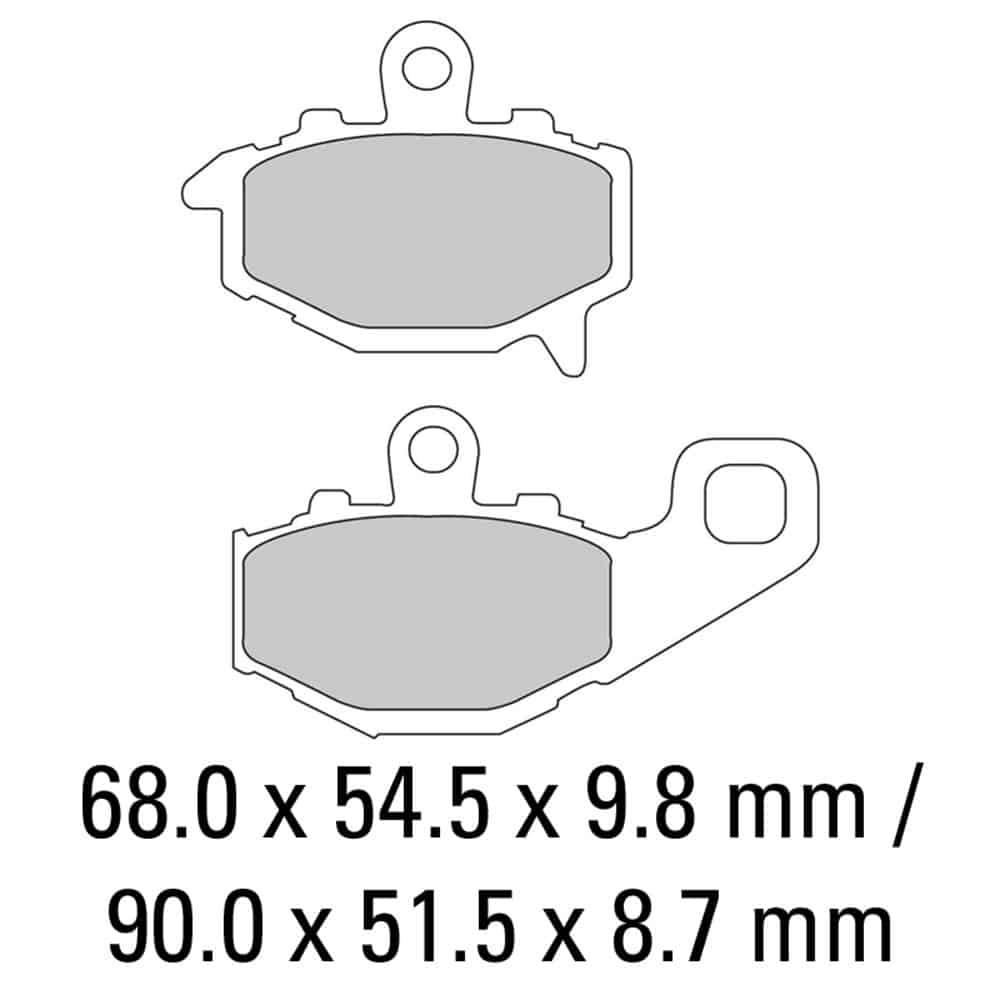 Ferodo Brake Disc Pad Set – FDB2012 P Platinum Compound