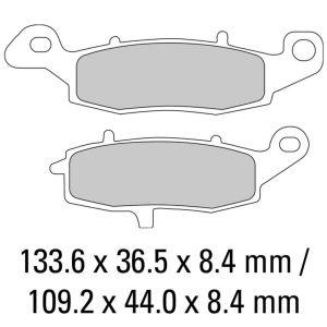 Ferodo Brake Disc Pad Set – FDB2049 P Platinum Compound – Non Sinter for Road or Competition