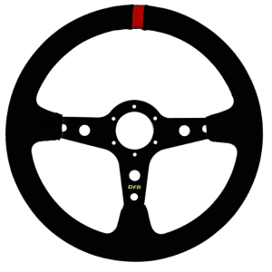 Dragonfire Steering Wheel – Shallow / Suede