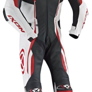 Ixon Vortex One Piece Leather Suit Black / White / Red