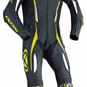 Ixon Vortex One Piece Leather Suit Black / White / Yellow