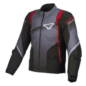 Macna Charger Jacket – Black / Grey / Red