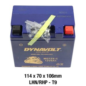 Dynavolt MG7ZS-C Battery 12 Volt Nano-Gel Series