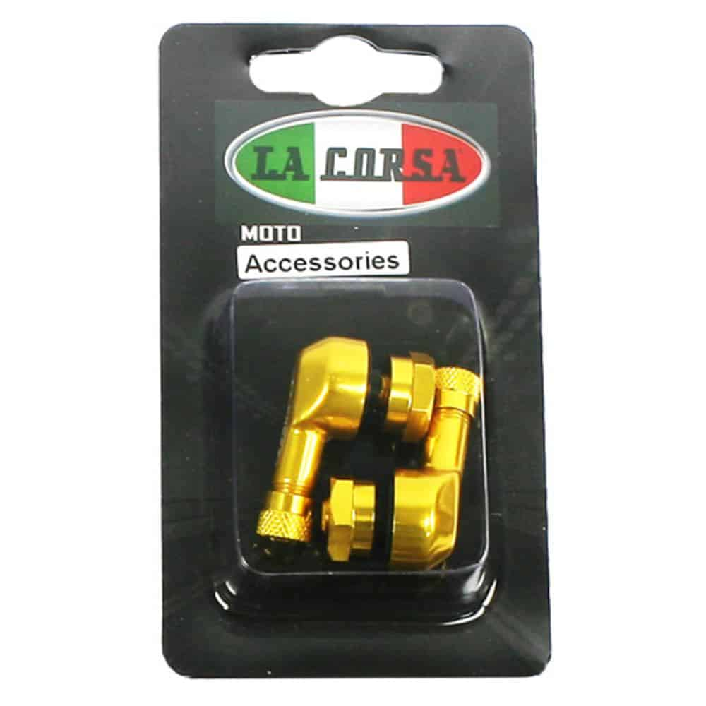 La Corsa Tubeless Angled Valve Stem Set 11.3mm – Gold