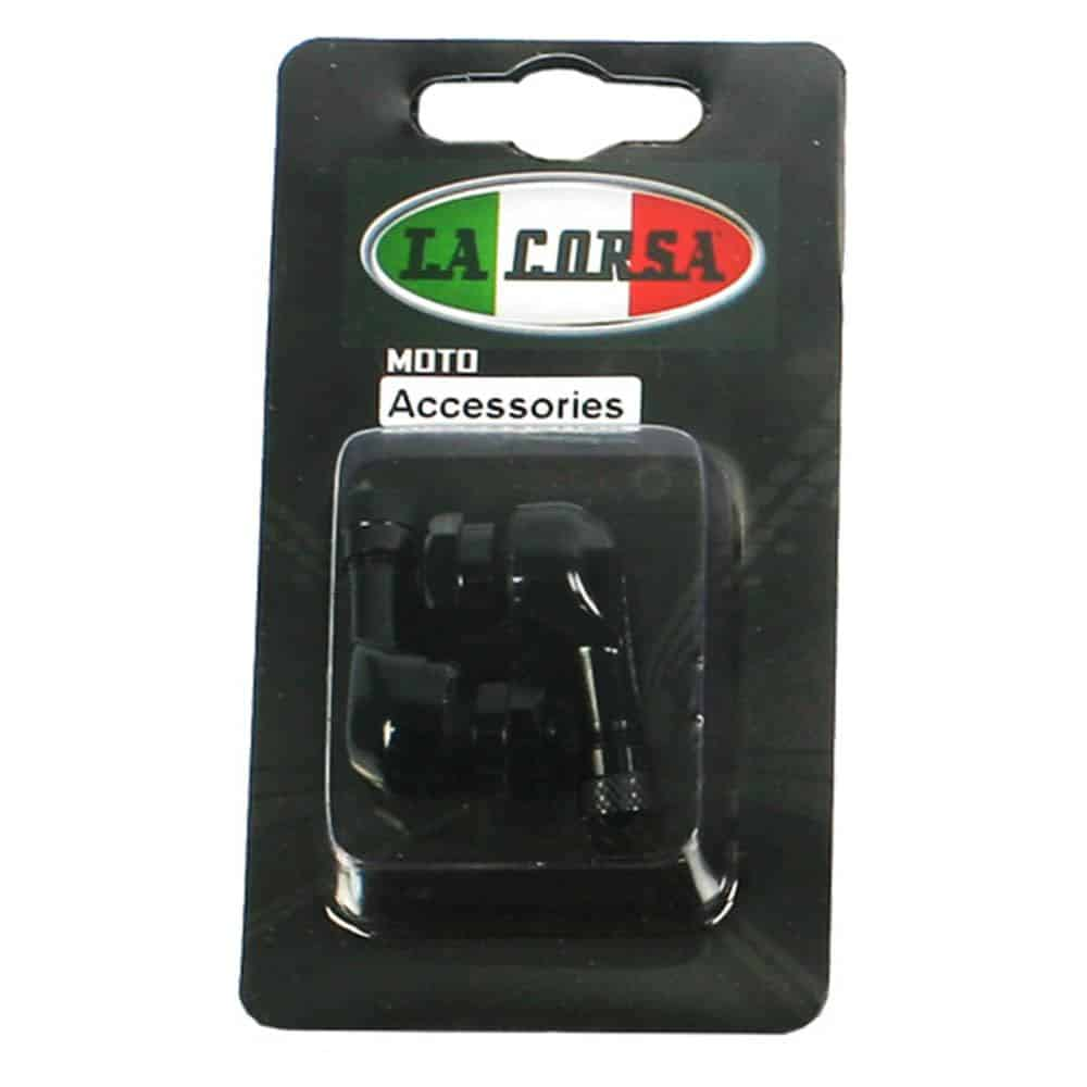 La Corsa Tubeless Angled Valve Stem Set 8.3mm – Black
