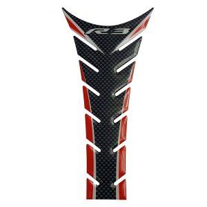 Yamaha YZF-R3 Tank Pad – Carbon / Red