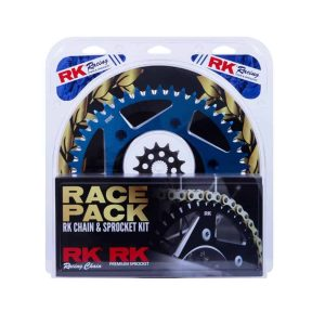 RK Race Pack – Chain & Sprocket Kit – Gold / Blue – 13/49