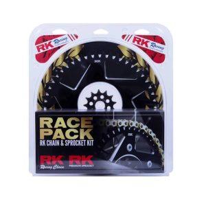 RK Race Pack – Chain & Sprocket Kit – Gold / Black – 13/49