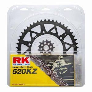 RK Chain & Sprocket Kit – Black – 13/50