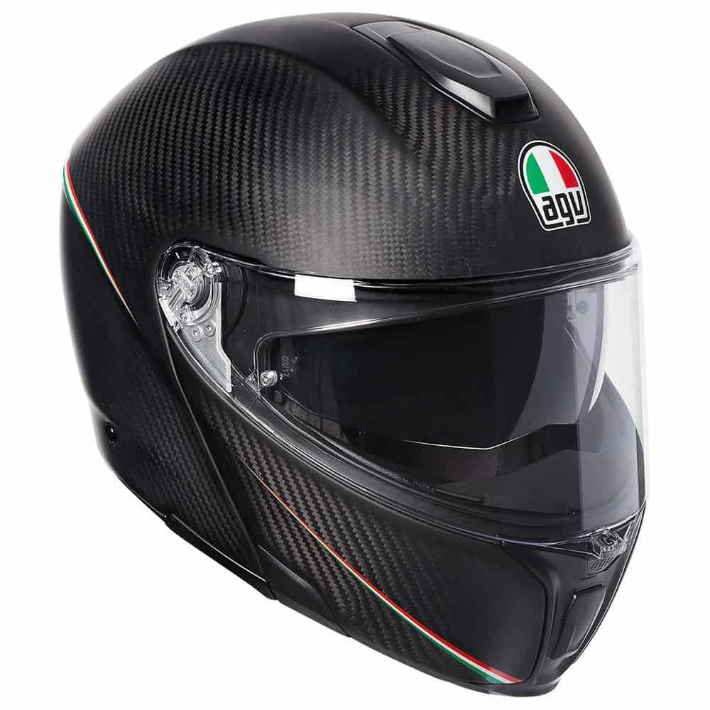 AGV Sport Modular – Tricolore Matt Carbon / Italy Helmet