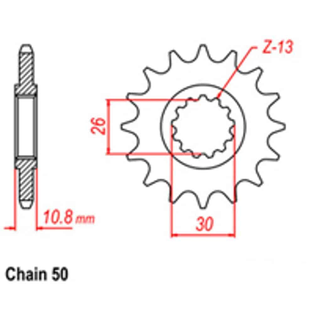 Front Sprocket – Steel 17T 530P