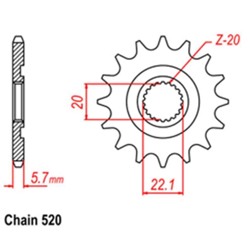 Front Sprocket – Steel 13T 520P