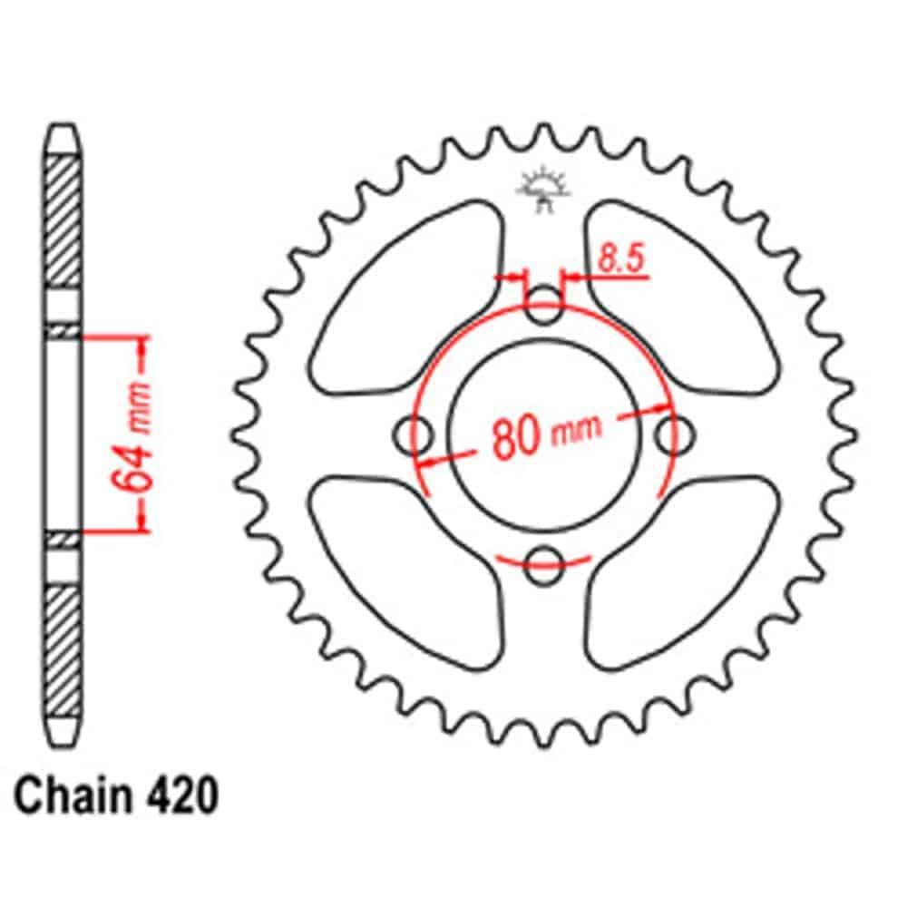 Rear Sprocket – Steel 35T 420P