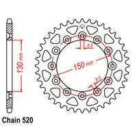 Rear Sprocket – Steel 45T 520P D/D