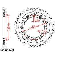 Rear Sprocket – Steel 47T 520P D/D