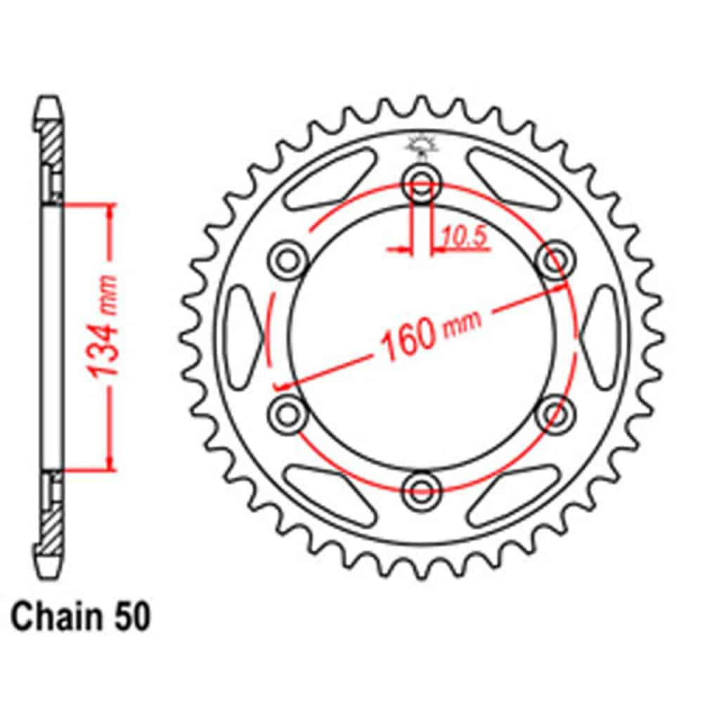 Rear Sprocket – Steel 42T 530P
