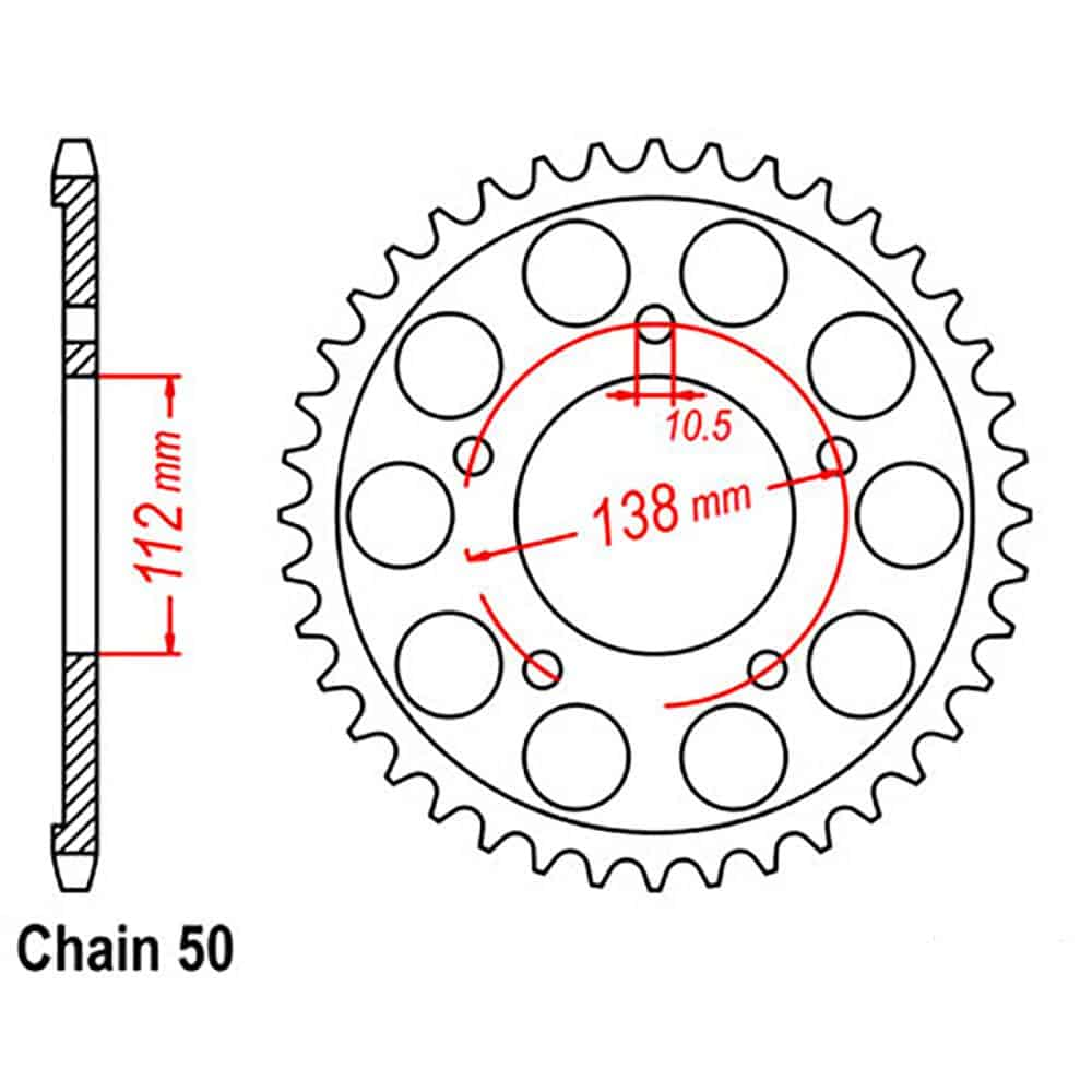 Rear Sprocket – Steel 48T 530P