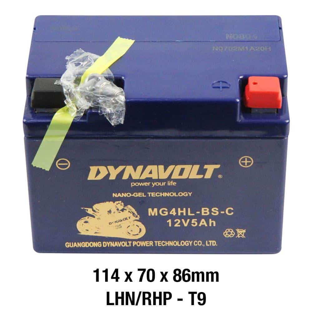 Dynavolt MG4HL-BS-C Battery 12 Volt Nano-Gel Series