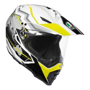 AGV AX-8 Dual Evo – Earth White/Black/Yellow