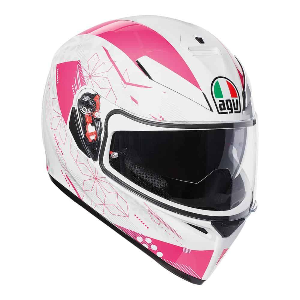 AGV K-3 SV – Izumi White / Pink Helmet