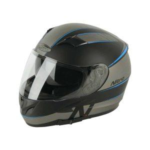 NITRO N2300 Axiom DVS Satin Black / Gunmetal / Blue Helmet