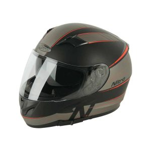 NITRO N2300 Axiom DVS Satin Black / Gunmetal / Red Helmet