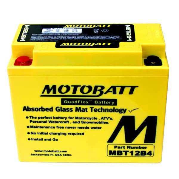 Motobatt MBt12B-4 YT12BBS Battery