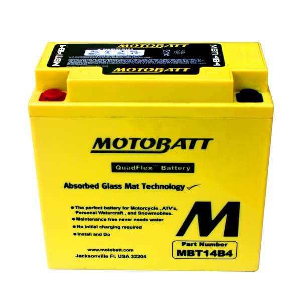 Motobatt MBT14B-4 YT14BBS Battery