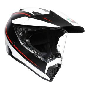 AGV AX9 – Pacific Road Multi  – Matt Black / White / Red
