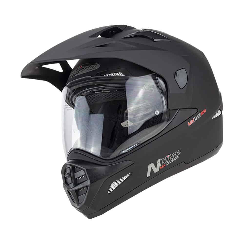 Nitro MX670 Uno DVS Satin Black Adventure Helmet