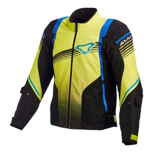 Macna Charger Jacket – Black / Yellow / Blue