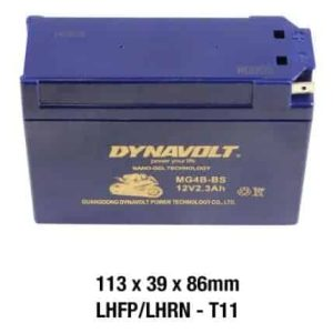 Dynavolt Battery – AGM FA GEL: 12Volt 2.3Ah: MG4B-BS/GT4B-BS