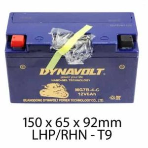 Dynavolt Battery AGM FA GEL: 12Volt 6Ah: MG7B-4-C or GT7B-4
