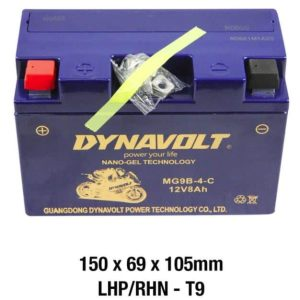 Dynavolt MG9B-4-C Battery 12 Volt NANO-GEL Series