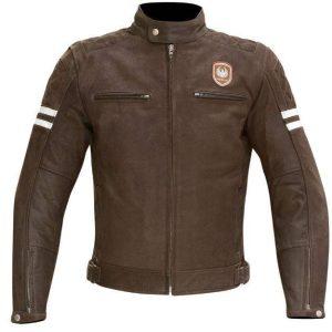 Merlin Hixon Men's Leather Jacket Brown