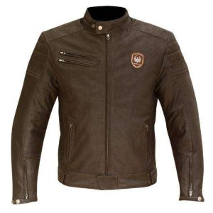 Merlin Alton Men's Leather Jacket Brown
