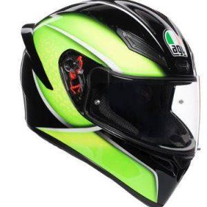 AGV K-1 – Qualify Black / Lime Helmet