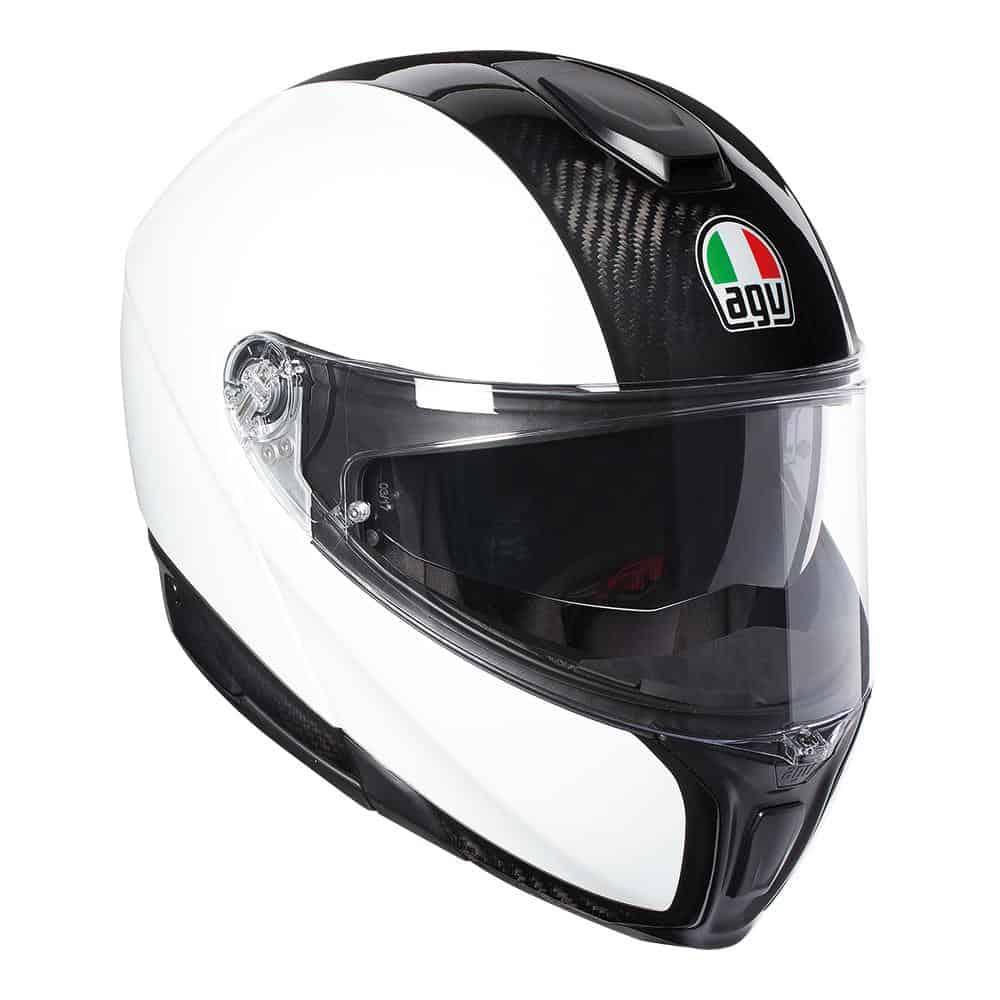 AGV Sport Modular – Carbon / White Helmet