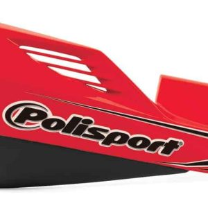 Polisport MX Rocks Handguards + Universal Aluminium Fitting Kit – Red