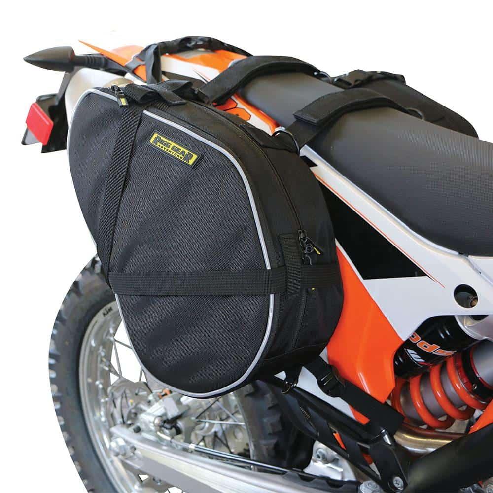 Nelson-Rigg Saddlebags RG-020 Dual-Sport Expandable 12-15 litre ea – Black