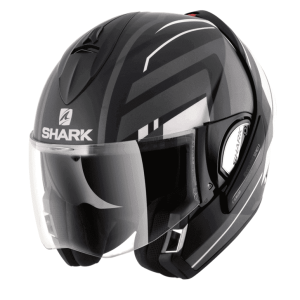 Shark Evoline 3 Corvus Black Convertible Helmet