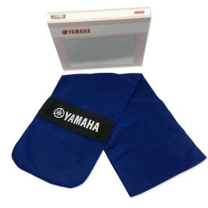 Yamaha Fleece Scarf – Blue