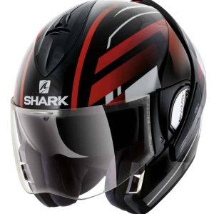 Shark Evoline 3 Corvus Red Convertible Helmet
