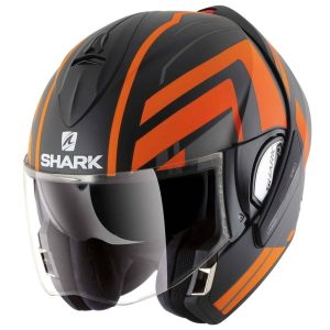 Shark Evoline 3 Corvus Orange Convertible Helmet