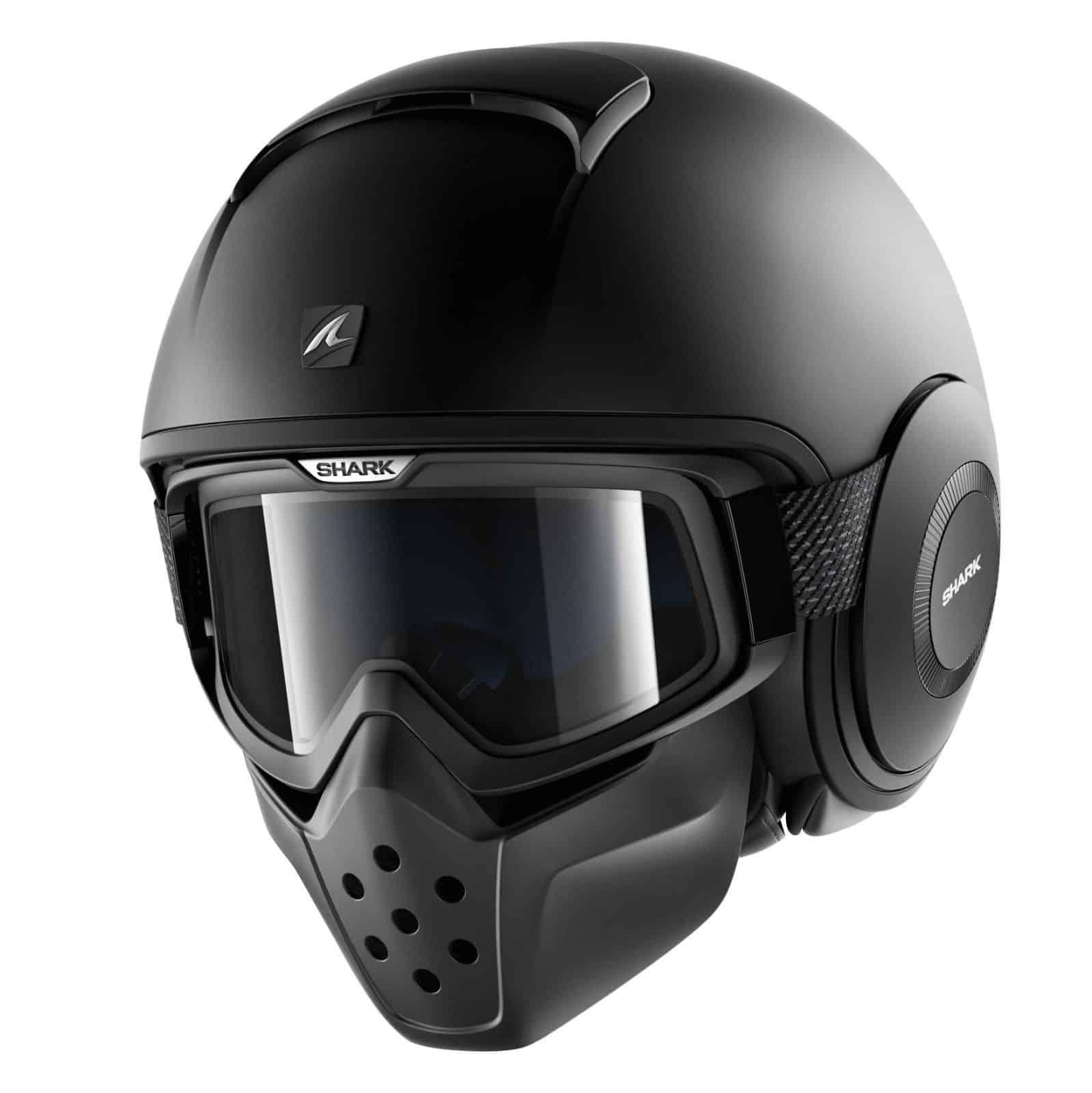 Shark Drak Blank Mat Black Helmet