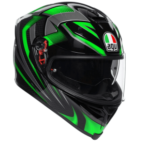 AGV K-5 S – Hurricane Black / Green Helmet