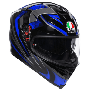 AGV K-5 S – Hurricane Black / Blue Helmet