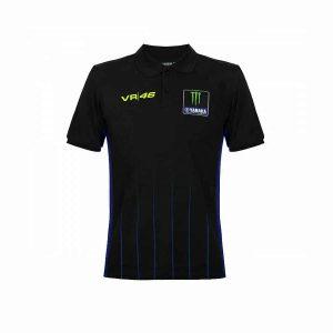 Yamaha VR46 Men's Black Polo Shirt